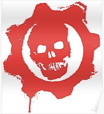 Gears red Poster