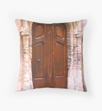 A Door in Arles France Throw Pillow