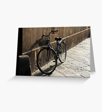 Lonely Bike Greeting Card