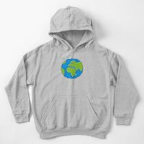 Earth Globe Icon Kids Pullover Hoodie