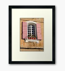A Shuttered Window in Arles Framed Print