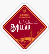 Millau Viaduct France - T-Shirt + Sticker Sticker