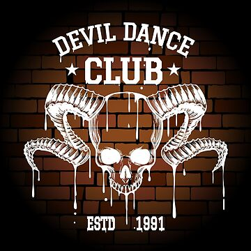 Rock Club Emblem with Human Skull by devaleta