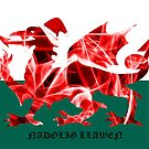 The Welsh Smoke Dragon Nadolig Llawen by Steve Purnell