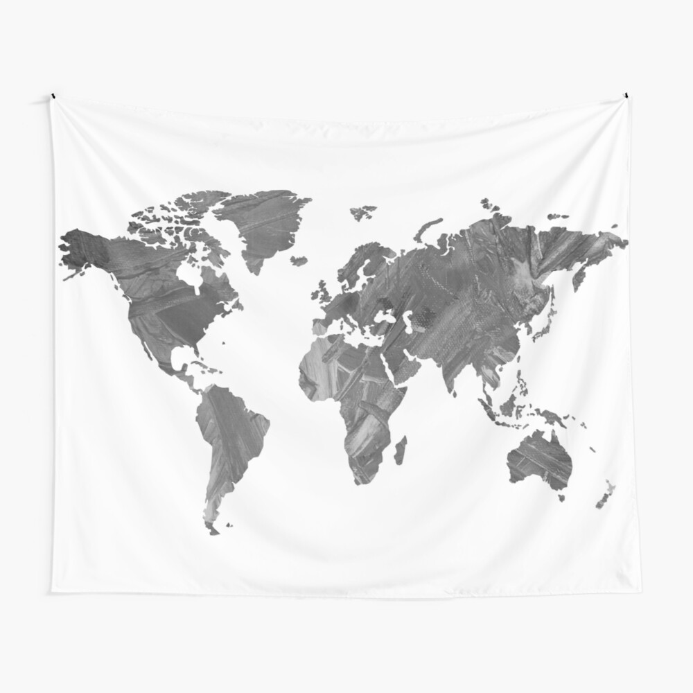 MAP-B&W Freedom vibes worldwide Wall Tapestry