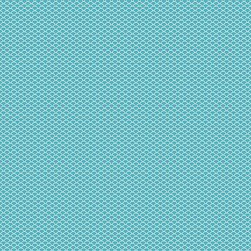 Pastel greenish blue half a circle pattern by ShineEyePirate