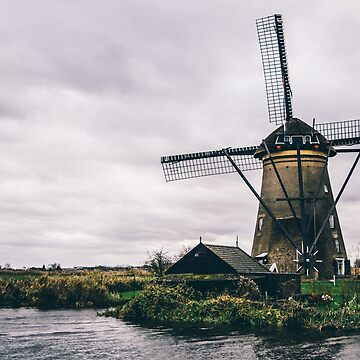Windmill Kinderdijk Netherlands by PatiDesigns