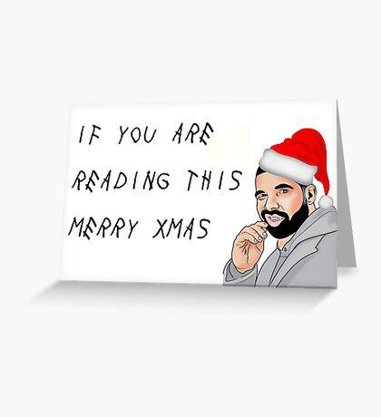 Drake Merry Xmas, tarjeta de felicitación del rapero, tarjetas de felicitación de meme Tarjeta de felicitación
