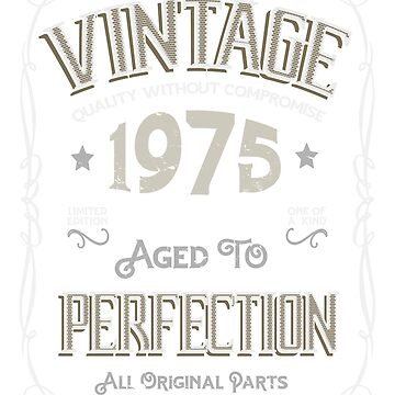 Vintage 1975 44 years old birthday by hsco