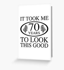 Funny 70th Birthday Greeting Card