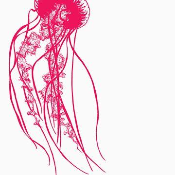 Hot Pink Jellyfish by gawkpop