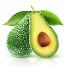 Two avocado fruits by 6hands
