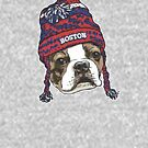 Boston Sports Terrier Red Beanie by MudgeStudios