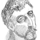 Gauguin (after his self portrait) by Sandrine Pelissier