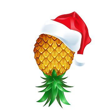 Santa Hat Swinger Upside Down Pineapple by LemoBoy