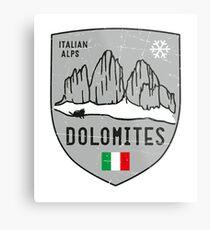 Lámina metálica Dolomites Mountain Italy Emblem