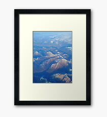 Mountains from the window seat Framed Print