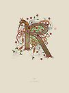 Celtic Initial R by Thoth Adan