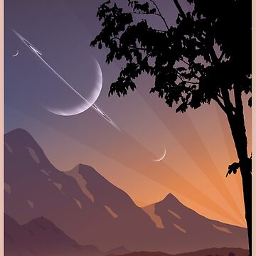 Space Travel Poster 70 Virginis B by magarlick