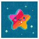 Happy Pixel Star by Chris Sayer