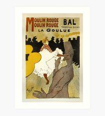 Bal La Goulue Vintage French Advertising Art Print