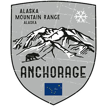 Anchorage Mountain Alaska Emblem by posay