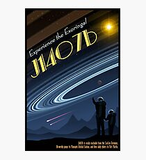 Space Travel Poster J1407b Photographic Print