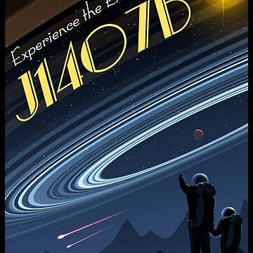 Space Travel Poster J1407b by magarlick