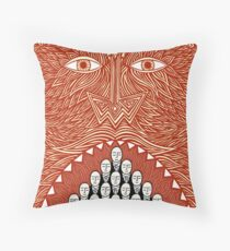 More food for devilish thought Throw Pillow