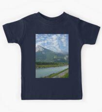 a stunning Liechtenstein landscape Kids Tee