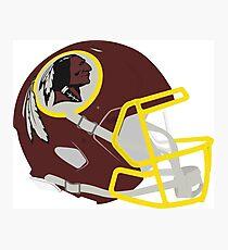 Washington Redskins Helm Photographic Print