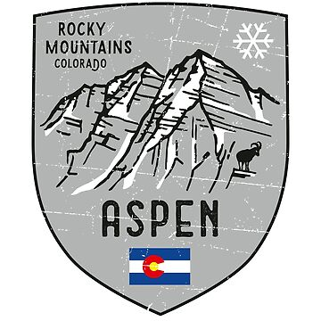 Aspen Mountain Colorado Emblem  by posay
