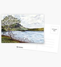 Minimalistic river view landscape Postcards