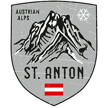 St. Anton Mountain Austria Emblem  de posay