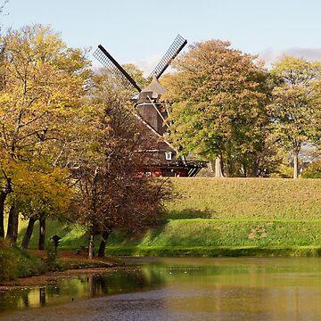 Kastellet Windmill Copenhagen by obadiah