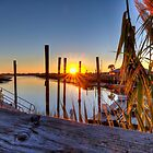 Murrells Inlet Sunrise  by TJ Baccari Photography