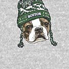 Boston Terrier Green Beanie by MudgeStudios