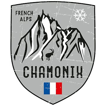 Chamonix Mountain France Emblem  by posay