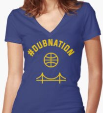 Dub Nation Women's Fitted V-Neck T-Shirt