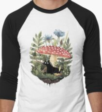 Camiseta ¾ estilo béisbol Pequeño unicornio
