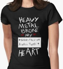 Fall Out Boy Centuries - Heavy Metal Broke My Heart Women's Fitted T-Shirt