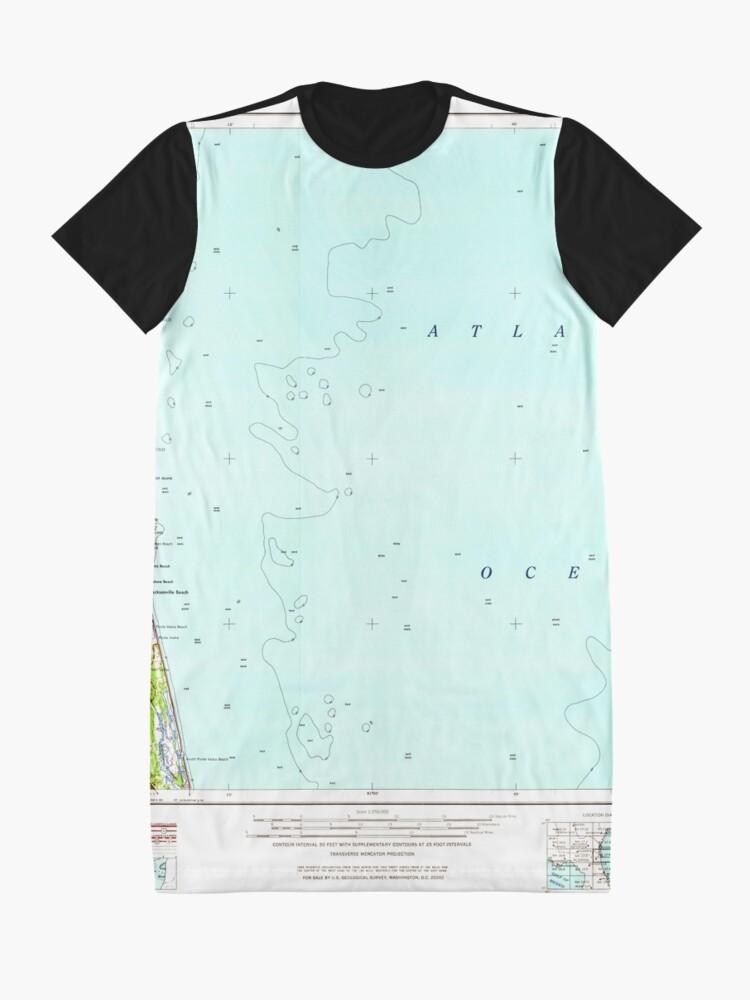Alternative Ansicht von USGS TOPO Map Florida FL Jacksonville 346821 1957 250000 T-Shirt Kleid