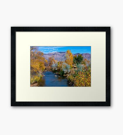 Autumn At Ogden River Framed Print