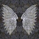 Buddleia Angel Wings With Lichen by Alyson Fennell