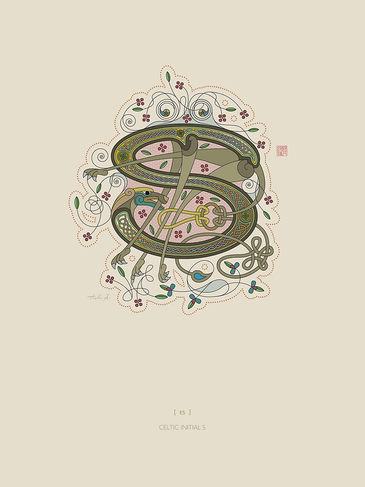 Celtic Initial S by Thoth-Adan