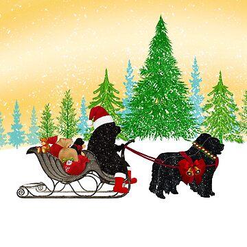 Newfoundland Dog Christmas! by itsmechris