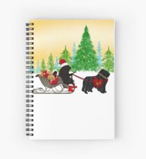 Newfoundland Dog Christmas! Spiral Notebook