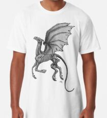 Camiseta larga Thestral # 2 con fondo gris