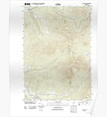 USGS Topo Map  Vermont VT Jay Peak 20120607 TM Poster