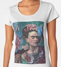 Frida Kahlo portrait (1) Women's Premium T-Shirt